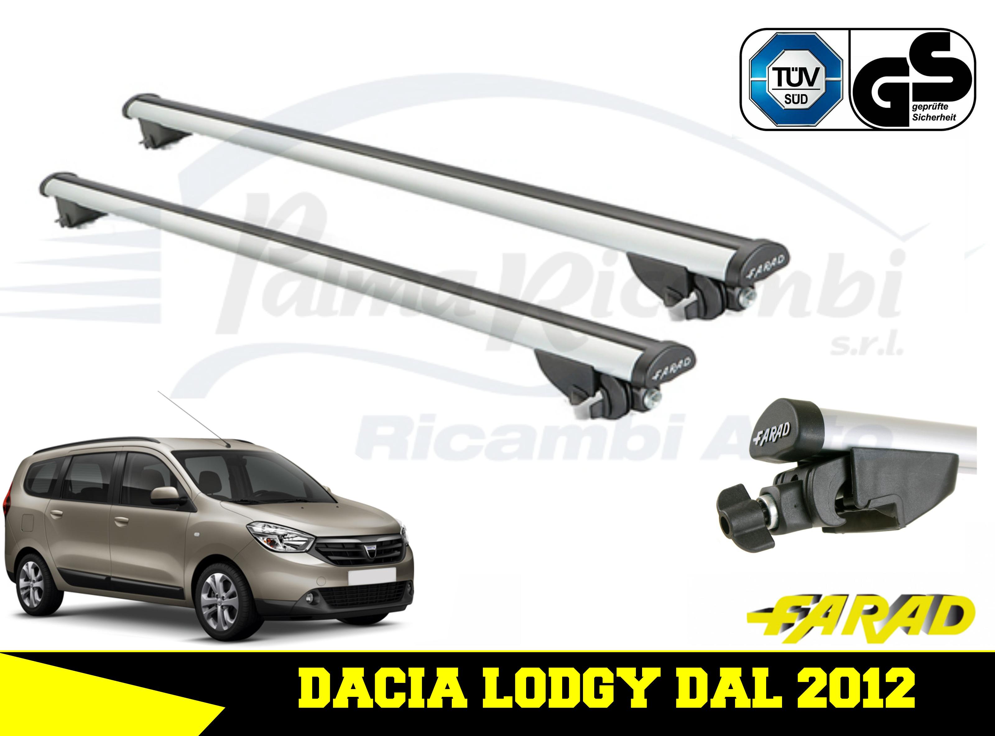 Barres de toit Farad en acier pour Dacia LODGY 2012