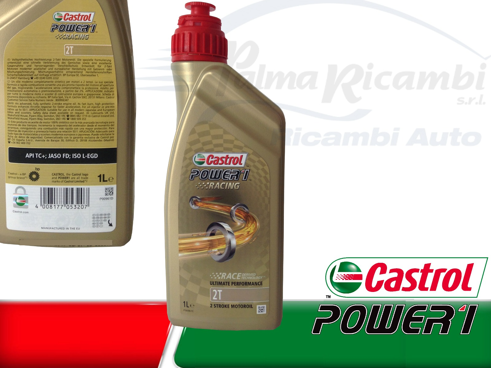 1 lt oil fuel engine motorrad castrol power1 racing 2t 100. Black Bedroom Furniture Sets. Home Design Ideas