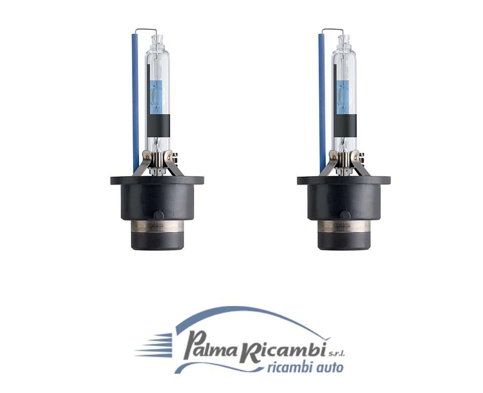 Coppia lampade d2r originale philips xenon white vision led effect