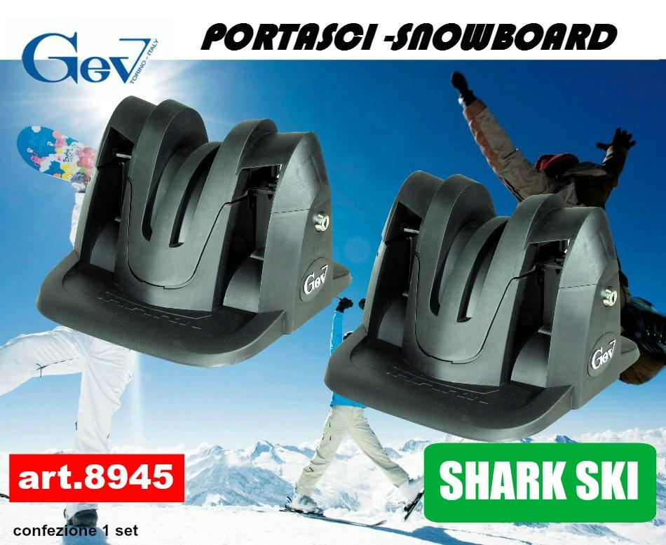 8944 PORTASCI MAGNETICO ANTIFURTO GEV OK CARVING 2 PAIA DI SCI O SNOWBOARD TUV